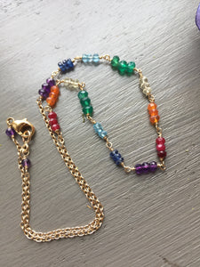 Rainbow Gemstone Necklace MADE TO ORDER
