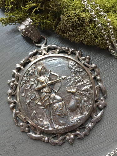 Reserved for B- Art Nouveau Diana the Huntress Medal