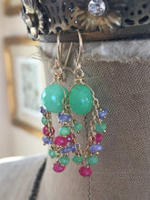 Load image into Gallery viewer, Chrysoprase Chandelier Earrings