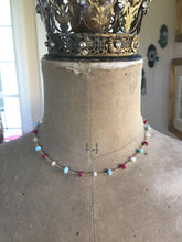 Load image into Gallery viewer, Larimar Ethiopian Opal and Ruby Layering Necklace