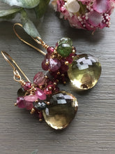 Load image into Gallery viewer, Bicolor Quartz Cluster Earrings