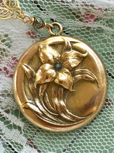 Load image into Gallery viewer, Antique Lily Locket Wightman and Hough Locket