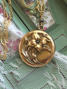 Antique Lily Locket Wightman and Hough Locket