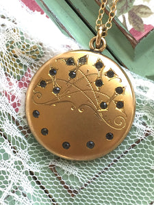Art Nouveau Paste Locket W&H Co.