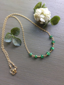 Emerald Station Necklace