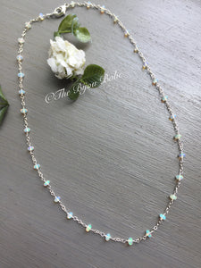 Custom Design Ethiopian Opal Station Necklace