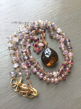 Load image into Gallery viewer, Cognac Quartz and Multi Spinel Necklace