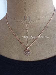 Pave Diamond Disc Pendant
