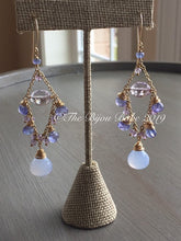 Load image into Gallery viewer, Tanzanite Chandelier Earrings Boho Chic Gemstone Chandelier Gypsy Earrings