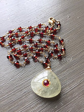 Load image into Gallery viewer, Boho Luxe Garnet Necklace