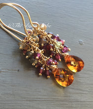 Load image into Gallery viewer, Citrine Tassel Earrings