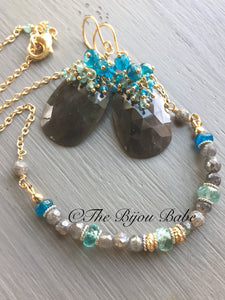 Gemstone Choker Bar Necklace Boho Necklace Boho Jewelry