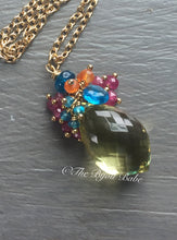 Load image into Gallery viewer, Lemon Quartz Cluster Pendant