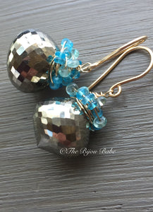 Pyrite Cluster Earrings