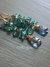 Load image into Gallery viewer, Mystic Blue Topaz Tassel Earrings