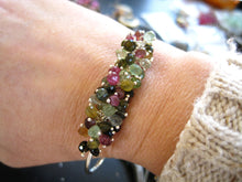 Load image into Gallery viewer, Tourmaline Cuff Bracelet-Enchanted Garden
