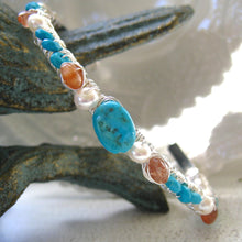 Load image into Gallery viewer, Sleeping Beauty Turquoise Cuff Bracelet