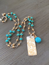 Load image into Gallery viewer, Sleeping Beauty Turquoise Necklace
