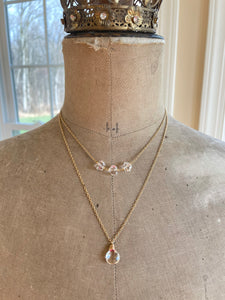 Reserved: Crystal Quartz Layering Necklaces