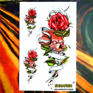 Nu-TATY Robot Machine Arm Temporary Body Art Flash Tattoo Stickers, 12*20cm Waterproof Tatto Henna Tatoo Summer Style Adult Sex