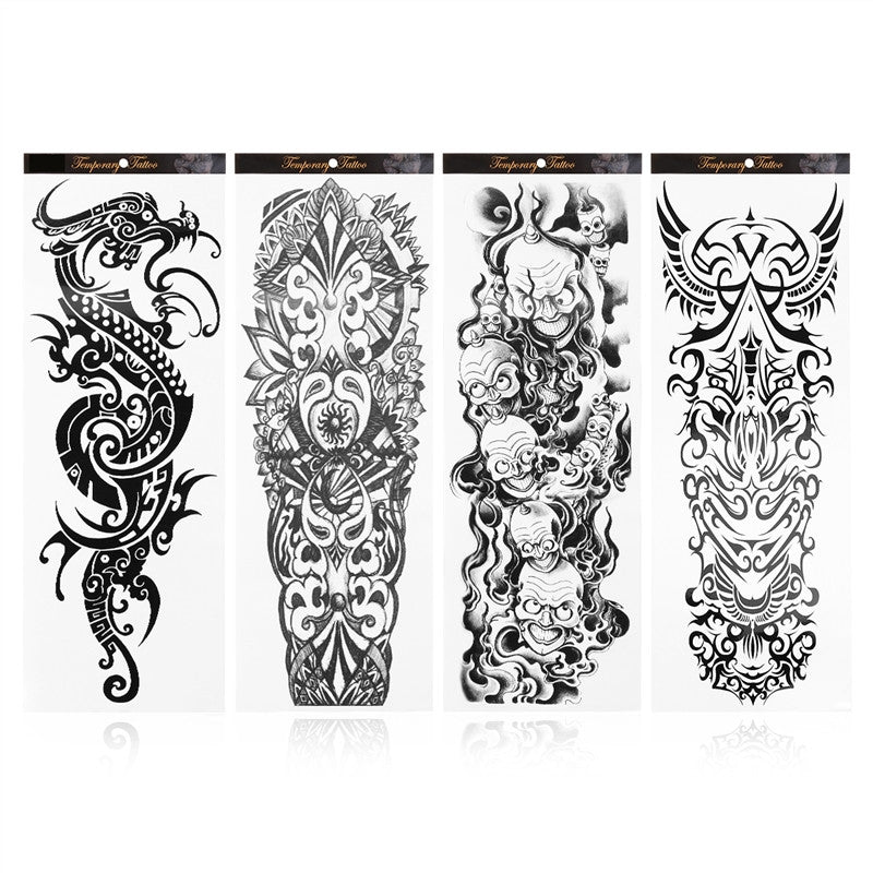 Rosenice 4 Sheets Temporary Tattoo Sticker Arm Fake Tattoos Long Lasting for Women Men Body Decoration