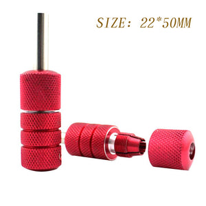 22x50mm/25x50mm Aluminum Alloy Tattoo Grips Tube with Back Stem Self-locked Tattoo Handle Machine Kit Gun Tattoo Accessories