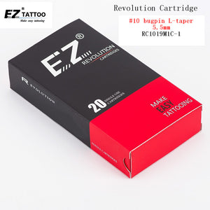 RC1019M1C-1EZ Revolution Tattoo Needle Cartridge Curved /Round Magnum(CM/RM) #10 0.30mm 20 pcs /box fro System Machine and Grip