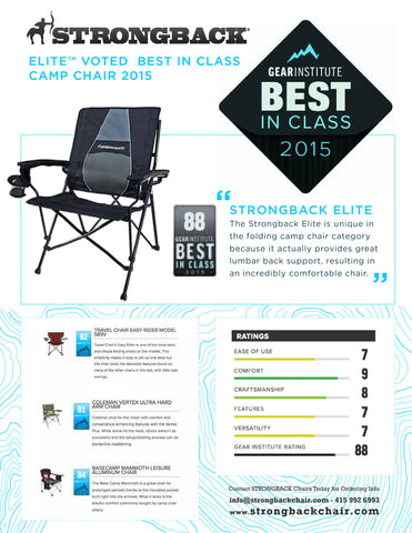 STRONGBACK ELITE BEST CAMP CHAIR IN CLASS