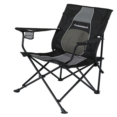 STRONGBACK CORE- BLACK AND GREY, COMFORTABLE CAMP CHAIR