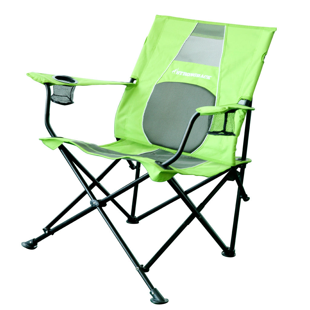 Comfortable camping chairs - Strongback Core Lime Green Grey Portable Chair