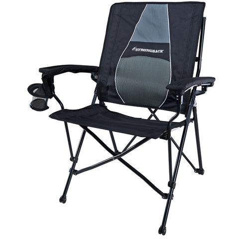 STRONGBACK ELITE BLACK & GREY ERGONOMIC CAMP CHAIR