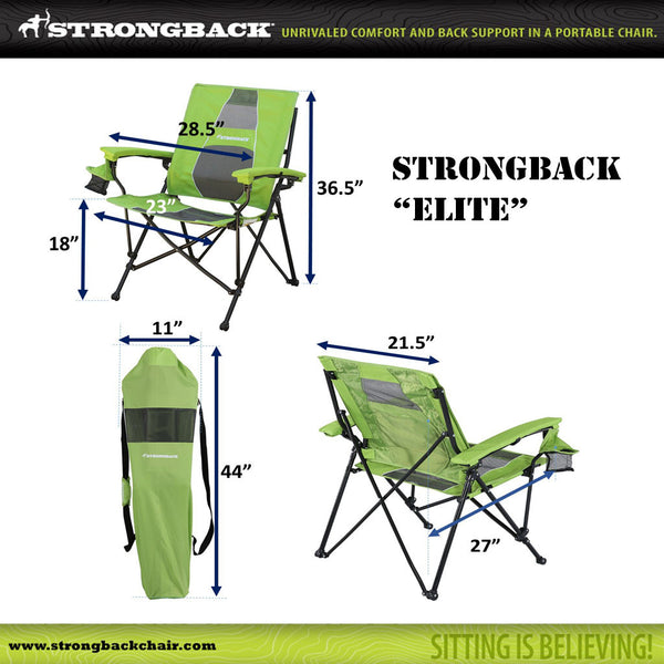 STRONGBACK Elite:  Navy & Grey