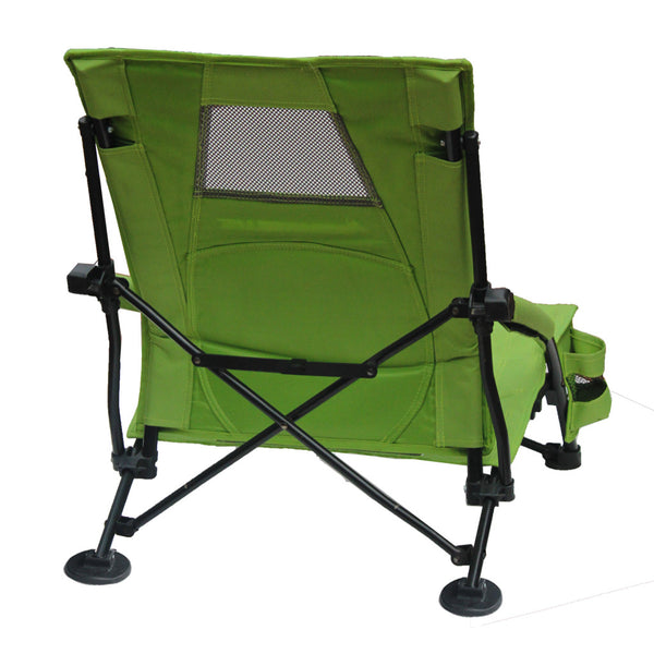 STRONGBACK Low Gravity Beach Chair - Lime Green & Grey Mesh