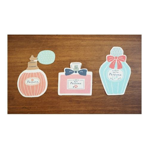 Furukawashiko Retro Die Cut Mini letter Set - Perfumes Rose