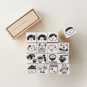 Hankodori original Mini rubber stamps