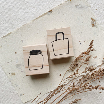 Hankodori original rubber stamp - Daily accessories