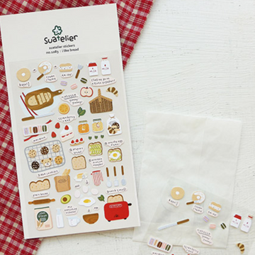 Suatelier Pastry Sticker Sheet - I like Bread