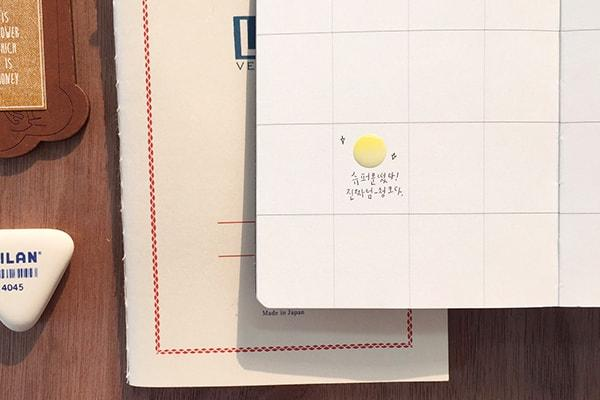 Suatelier Plain.10 Moon Phase Sticker Sheet - 1614