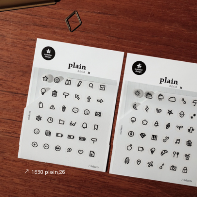 Suatelier Daily Icon Sticker Sheet