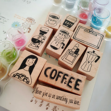 Fairy-Pill Love Coffee Stamp Set