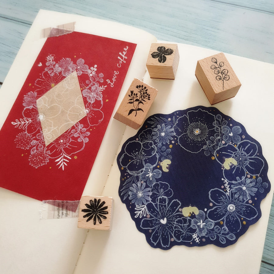 Fairy-Pill Flower Roll Stamp Set