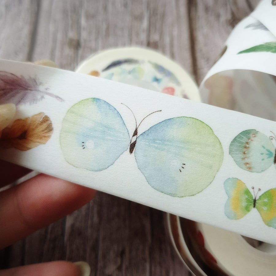 Fairy-Pill Feather and butterfly Washi Tape