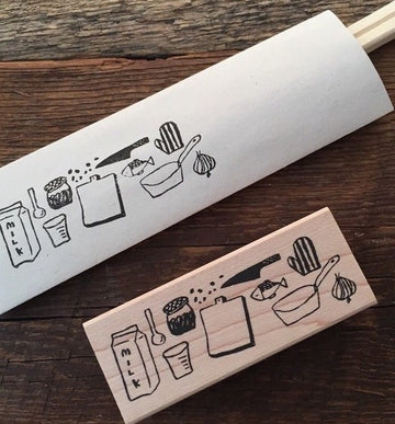 Hankodori original rubber stamp - Kitchen