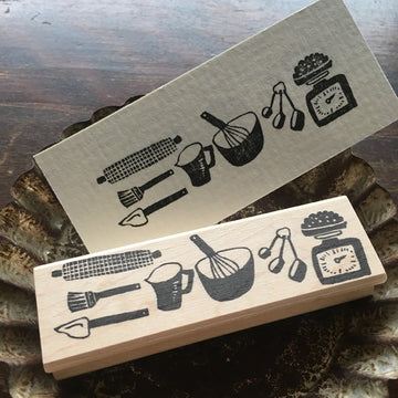 Hankodori original rubber stamp - Kitchen Tools