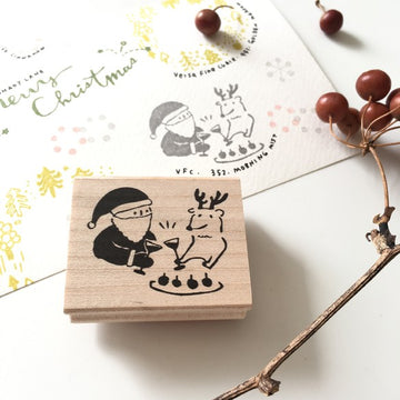 Hankodori original rubber stamp - Xmas Party