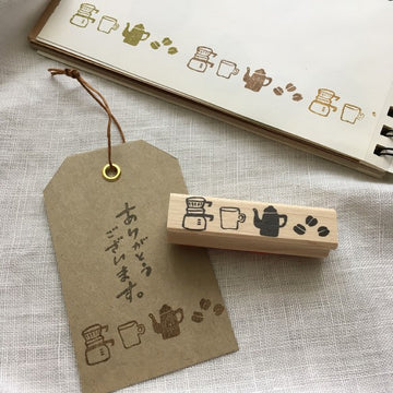 Hankodori original rubber stamp - Coffee