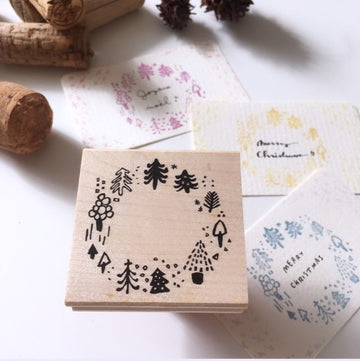 Hankodori original rubber stamp - Tree Decoration [Christmas]