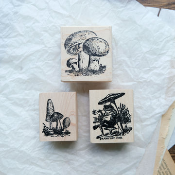 100 Proof Press Rubber Stamp Set - Mushroom Lover