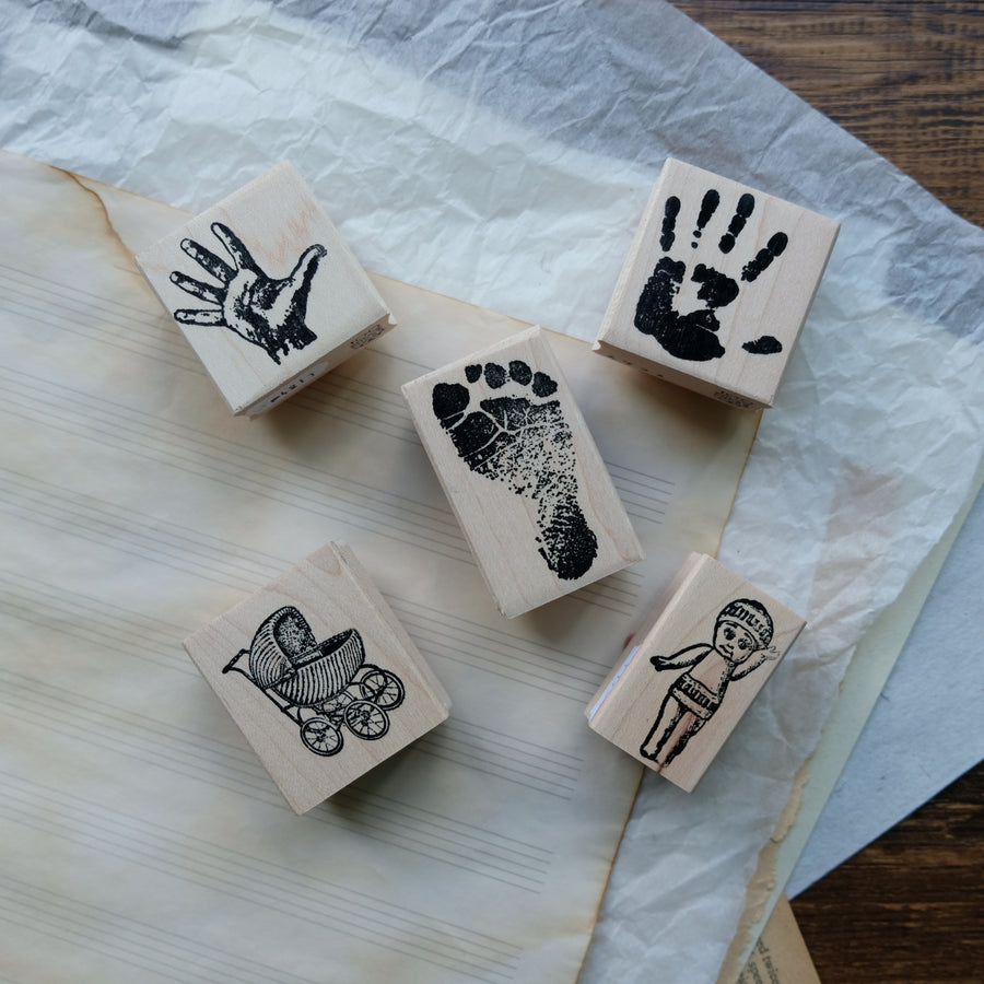 100 Proof Press Rubber Stamp Set - Newborn Toddler's Memory