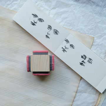 100 Proof Press Rubber Stamp - Large Face Block